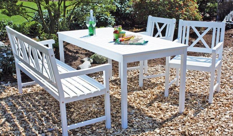 Schön Gartenmöbel Set Weiß Holz Deutsche Outdoor