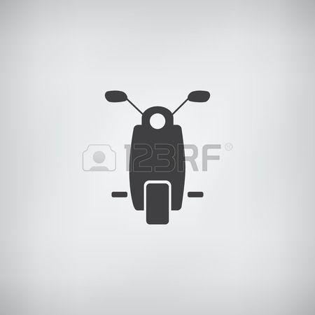 Moped oder Roller Icon vectore Illustration Lizenzfreie Bilder