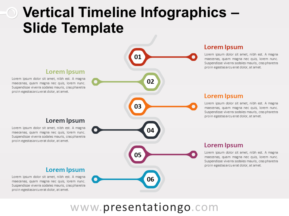 Vertical Timeline Infographics For Powerpoint And Google Slides Infographic Powerpoint Timeline