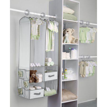Gentil Delta Children   24 Piece Nursery Closet Organizer, Dove Grey, Multicolor