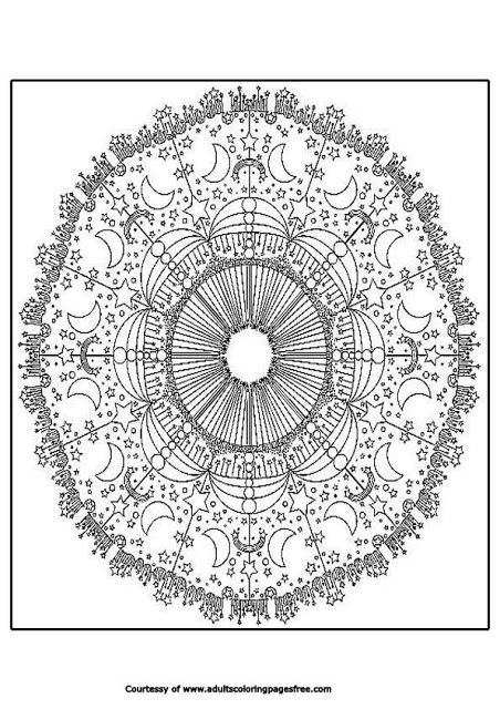 Advanced Mandala Coloring Pages For Adults Mandala Coloring Pages