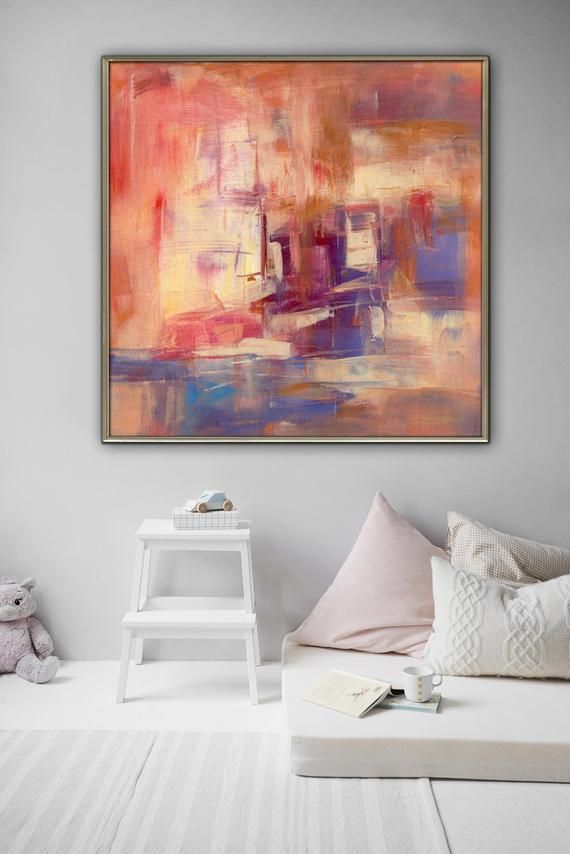 Awesome Abstract Red Painting Painting On Canvas Original Abstract Home Interior And Landscaping Staixmapetitesourisinfo