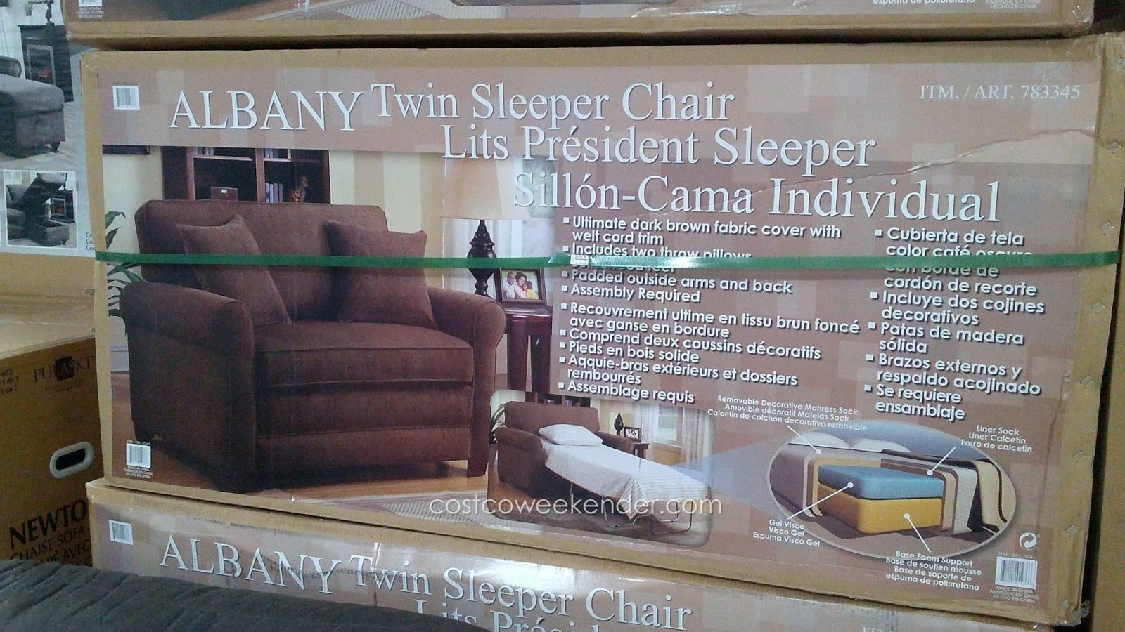 Synergy Home Albany Twin Sleeper Chair Costco Had These For 500 Tempurpedic Single Mattress Really Co Twin Sleeper Chair Sleeper Chair Home Design Decor