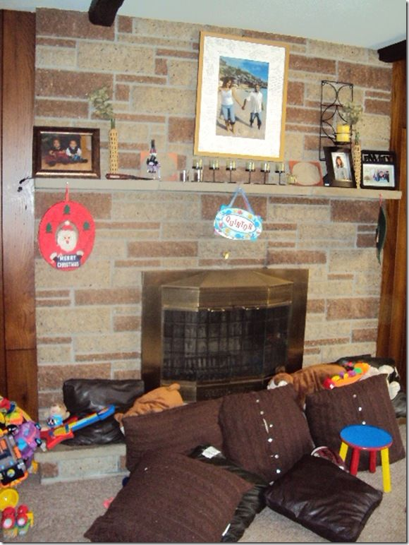 Formal Living Room With Brick Fireplace Moulding The Making Of A Slip Covered Mantel Bricks And Updated 1960 S Fireplacesformal