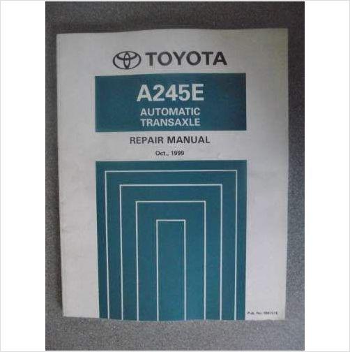 1995 Toyota Automatic Transaxle Repair Manual