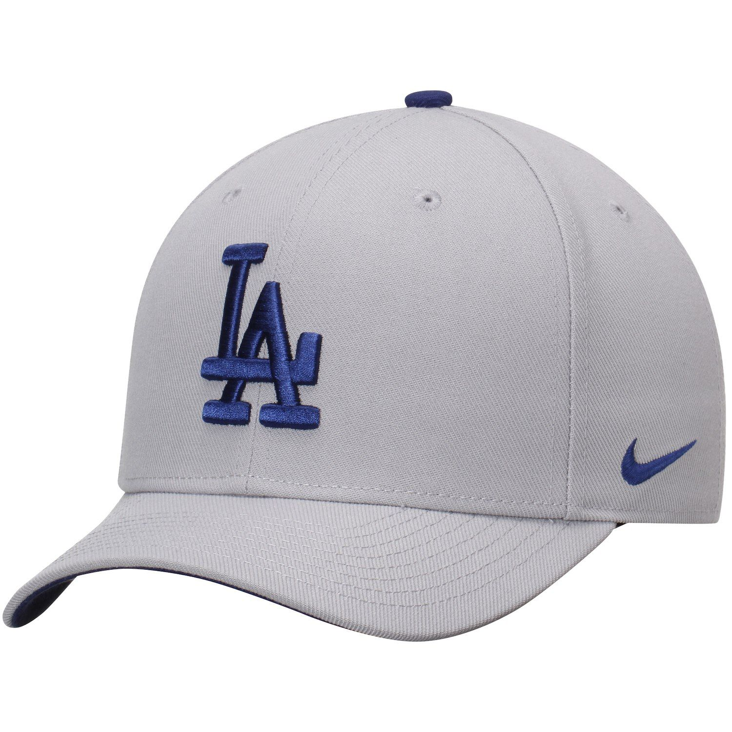 online store 5eb21 96400 Men s Nike Gray Los Angeles Dodgers Wool Classic Adjustable Performance Hat