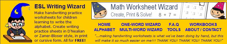 Handwriting Worksheet Generator School Stuff Pinterest