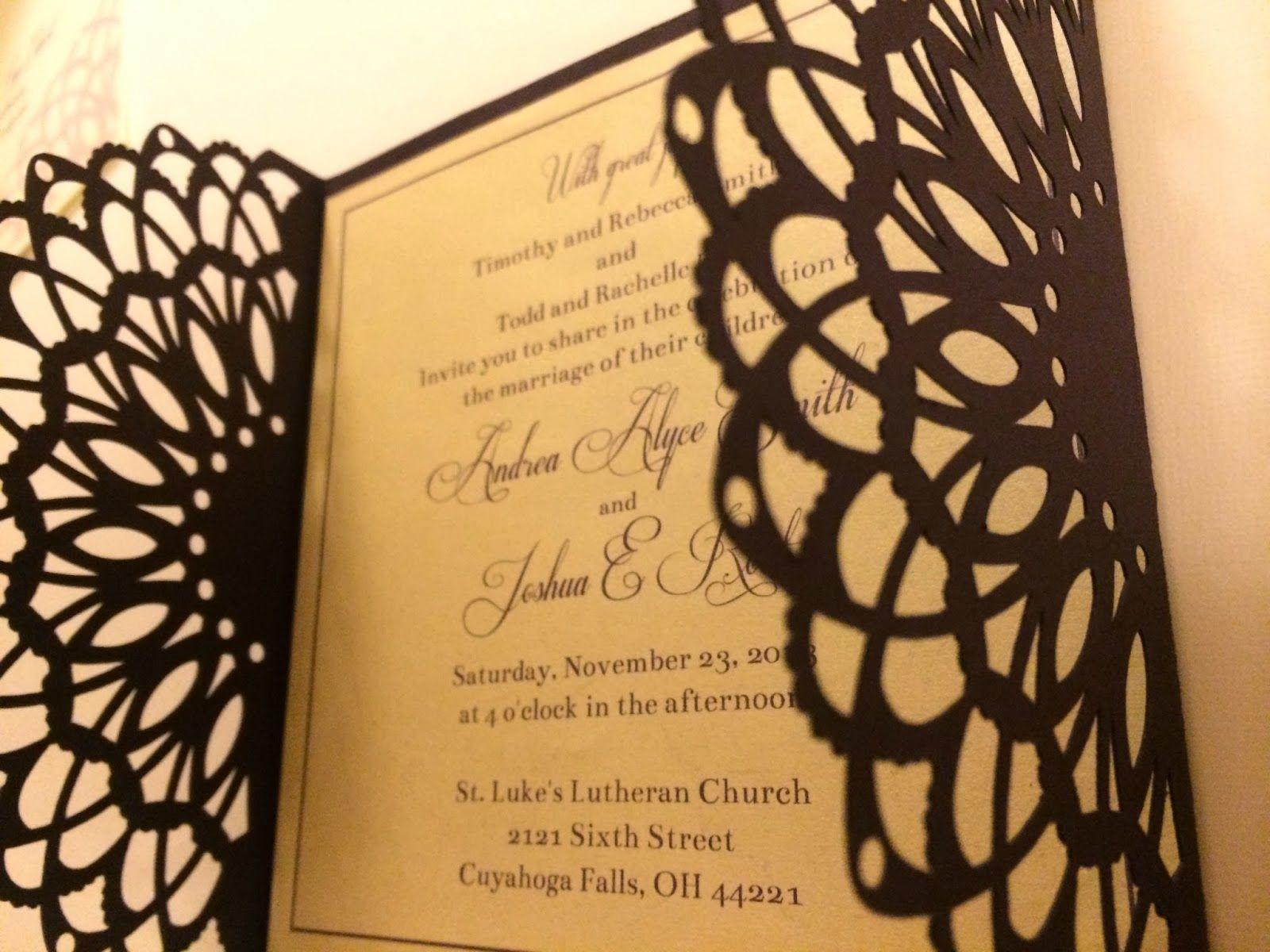 Pinterested life wedding invitations diywedding silhouettecameo