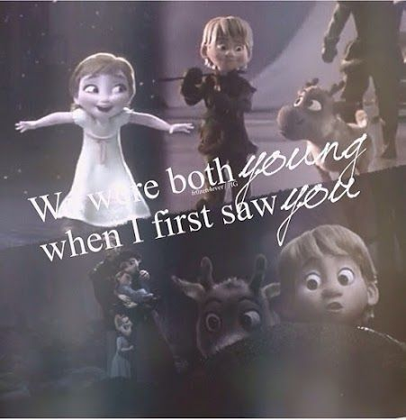 Ooh! Taylor swift and frozen crossover! It's from like the only song I like by her, Love Story!