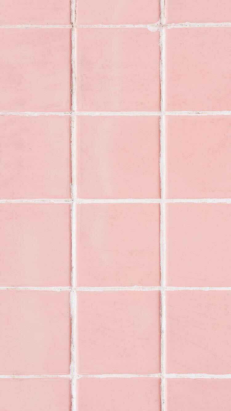 Iphone Wallpapers Pink Tiles Wallpaper For And Android