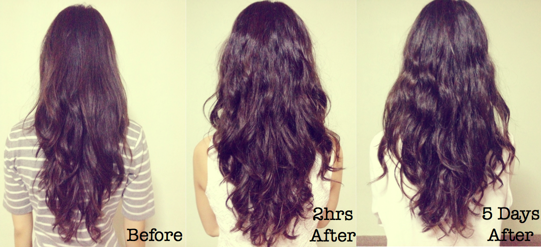 Perm Long Hair Before After Famous Long Hair 2018