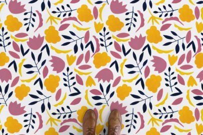 Sweet Colourful Floral Flooring (With images) | Patterned ...