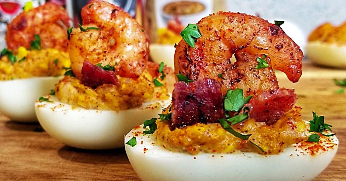 Creole Shrimp Deviled Eggs Recipe