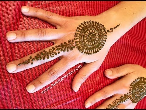 Mehndi For Party : Learn how to apply easy mehendi in 3 minutes quick minute henna