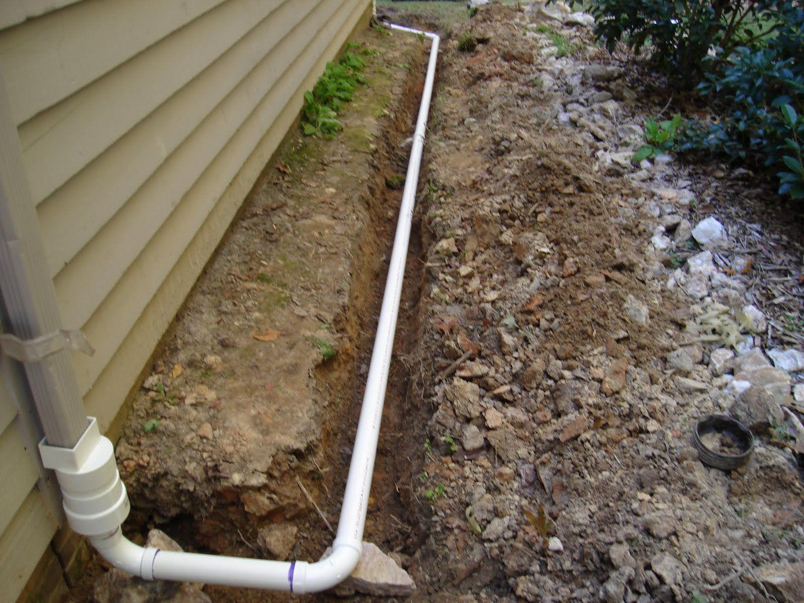 From Mind To Machine Installing A Downspout Drain Downspout Drainage Downspout Gutter Drainage
