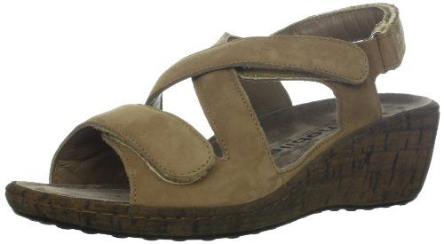Mephisto Womens Nolly SandalCamel Bucksoft11 M US -- To view further for this item, visit the image link.