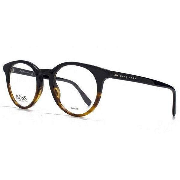 937edefc4c Hugo Boss 681 0OHQ Black Havana Frame Eyeglasses (175 NZD) ❤ liked on  Polyvore featuring accessories