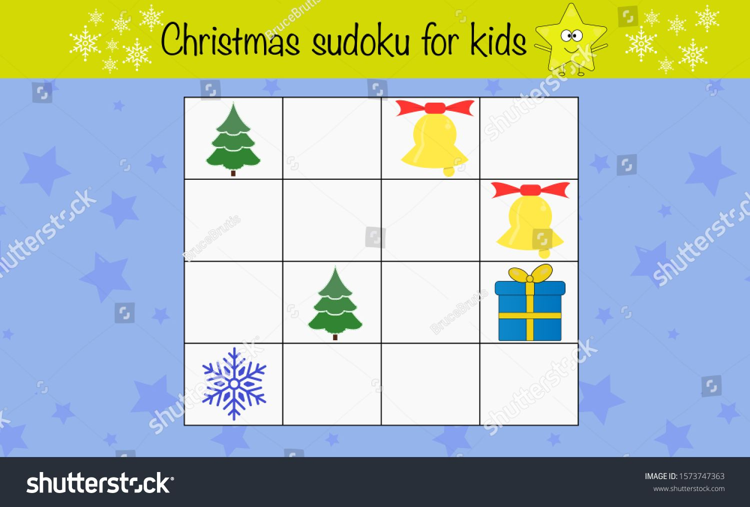 Math Puzzle Game For Children Sudoku Preschool Printable