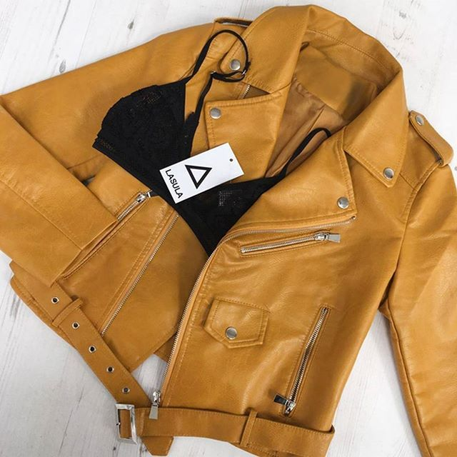 its all about transitioning, we are loving this bright leather jacket  LASULA LOVES