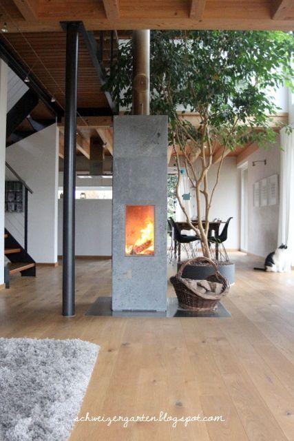 Ein Schweizer Garten Wohnzimmer Kaminofen Pinterest Ein - wohnzimmer modern mit ofen