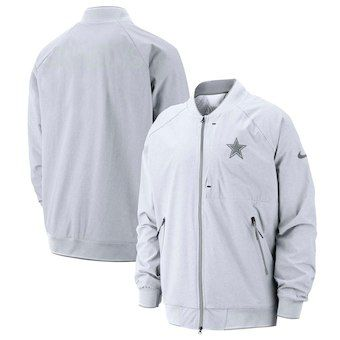 best loved 6646e 5012b Dallas Cowboys Nike Sideline Fuse Coaches Raglan Sleeve Full-Zip Jacket –  White