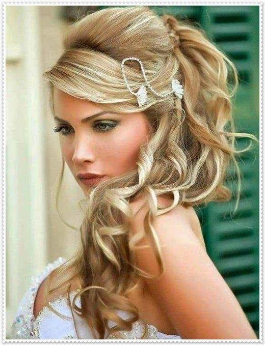Brautfrisuren lange haare blond