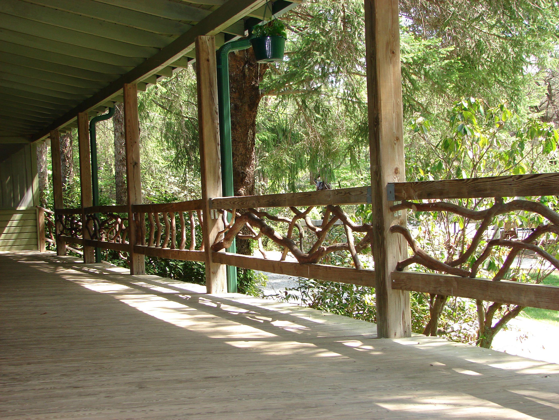 Deck Idea Porch Railing - Rustic Wood Handrails For Your