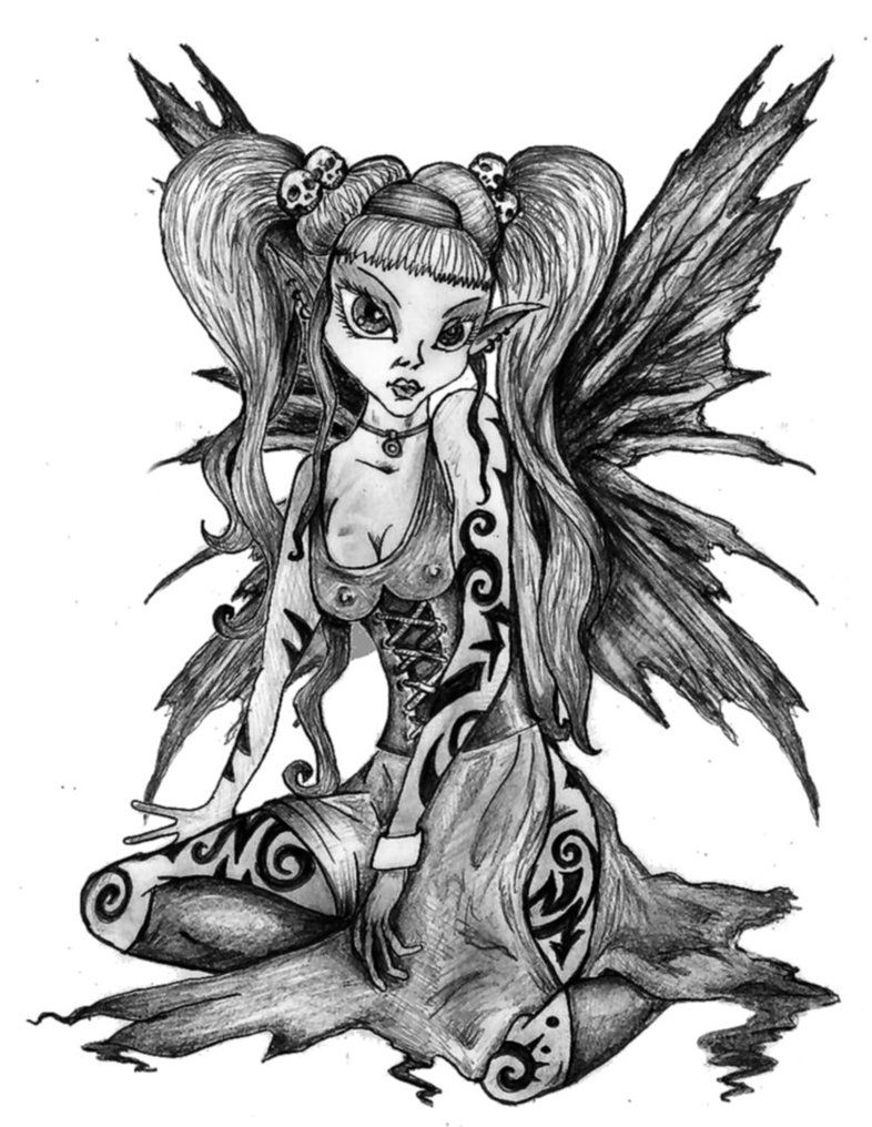 anime drawings gothic fairy by plummy69 on deviantart diy pinterest gothic fairy. Black Bedroom Furniture Sets. Home Design Ideas