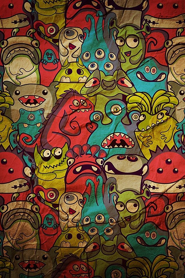 Doodle Wallpaper Wallpapers Pinterest Drawings Wall And