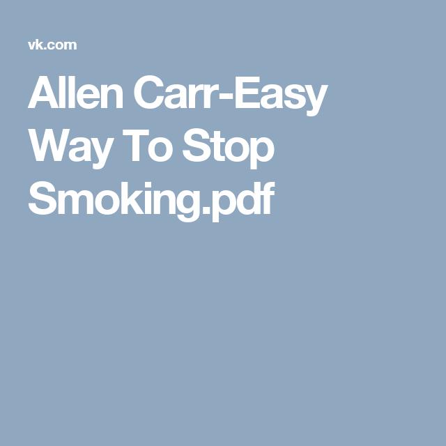 Stop alan smoking carr pdf to easyway