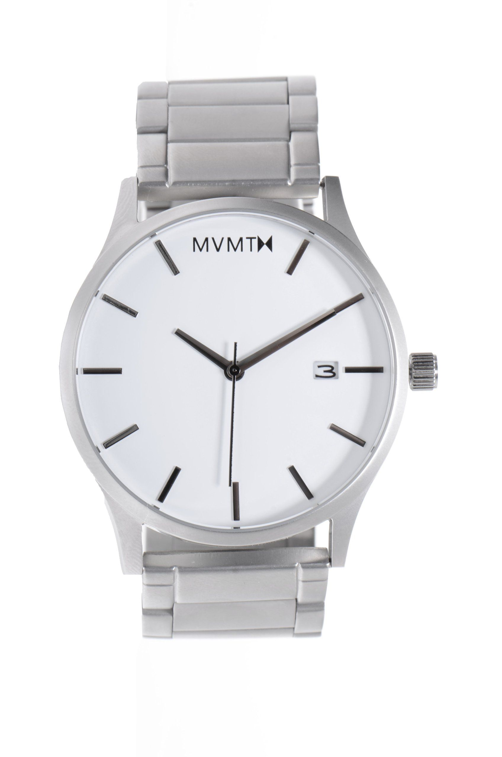 Mvmt Watches White Face With Silver Stainless Steel Bracelet Men S Watch