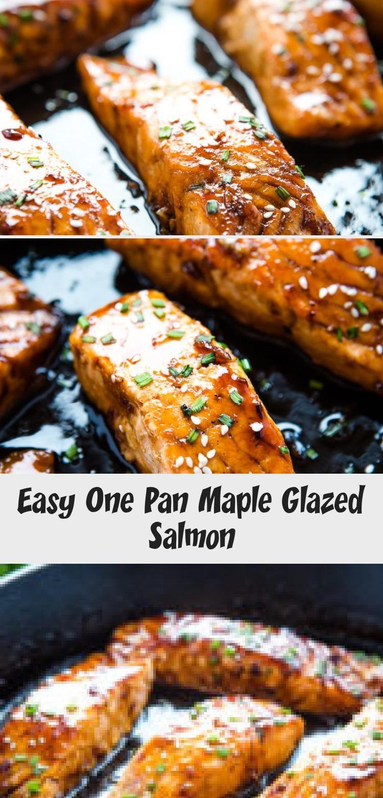 Photo of Easy One Pan Maple Glazed Salmon – Seafood Recipes