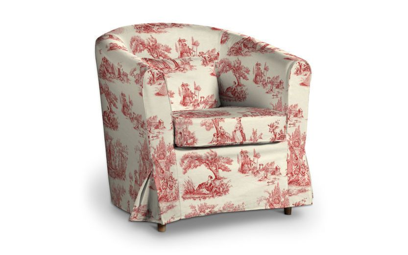 Paris Toile Rot Bezug Für Ikea Ektorp Tullsta Sessel