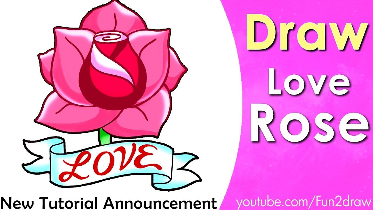 How To Draw A Rose Draw Easy Art Fun2draw Pinterest Easy Art