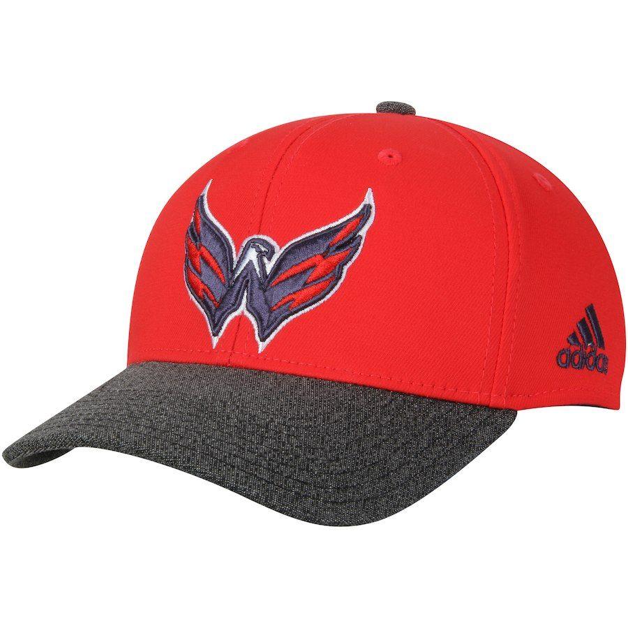 Men s Washington Capitals adidas Red Heathered Gray Performance Adjustable  Hat 210fe9942