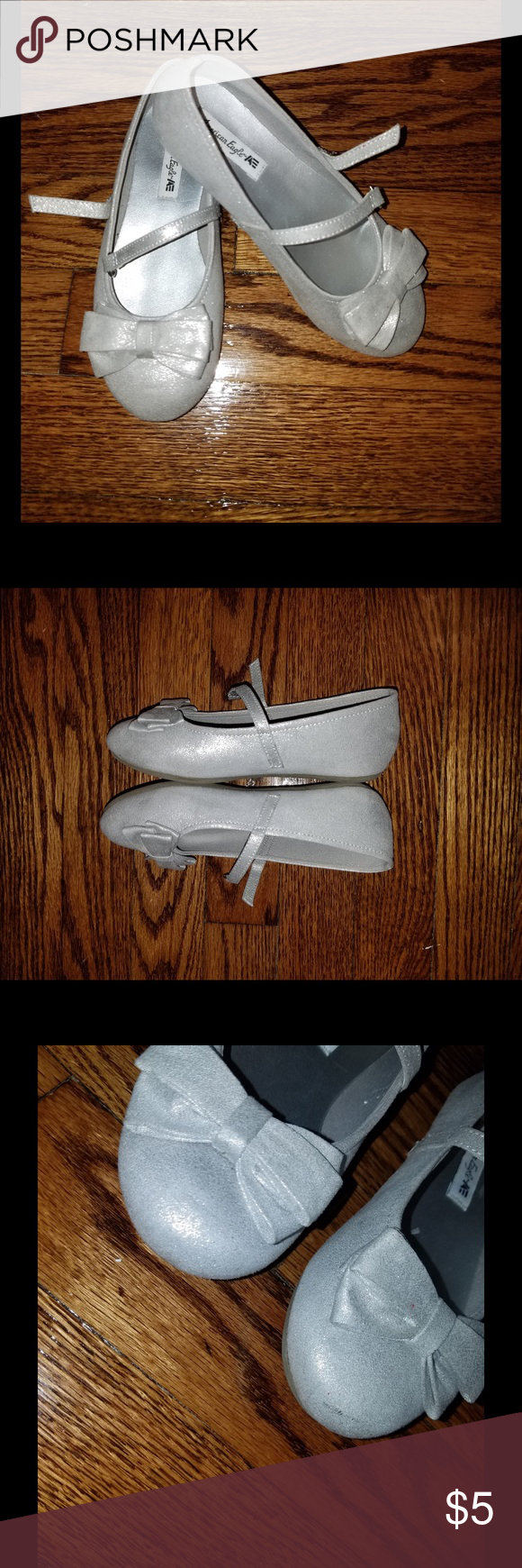 Silver Mary Janes Good condition.  Size 11.5. Rubber sole. Some marking in front, shown in pics. Other than that still good condition. ✨15% off bundles. Use bundle feature✨ Shoes Dress Shoes
