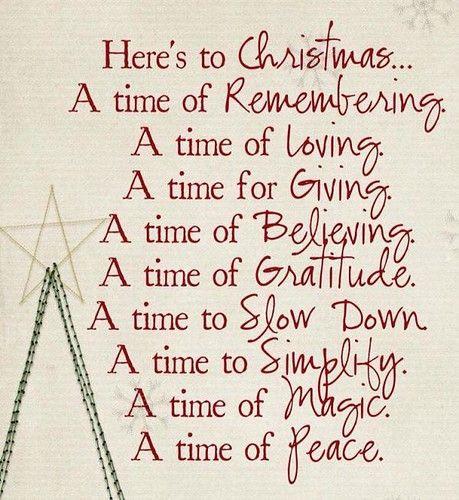 ❝ Here's to Christmas…