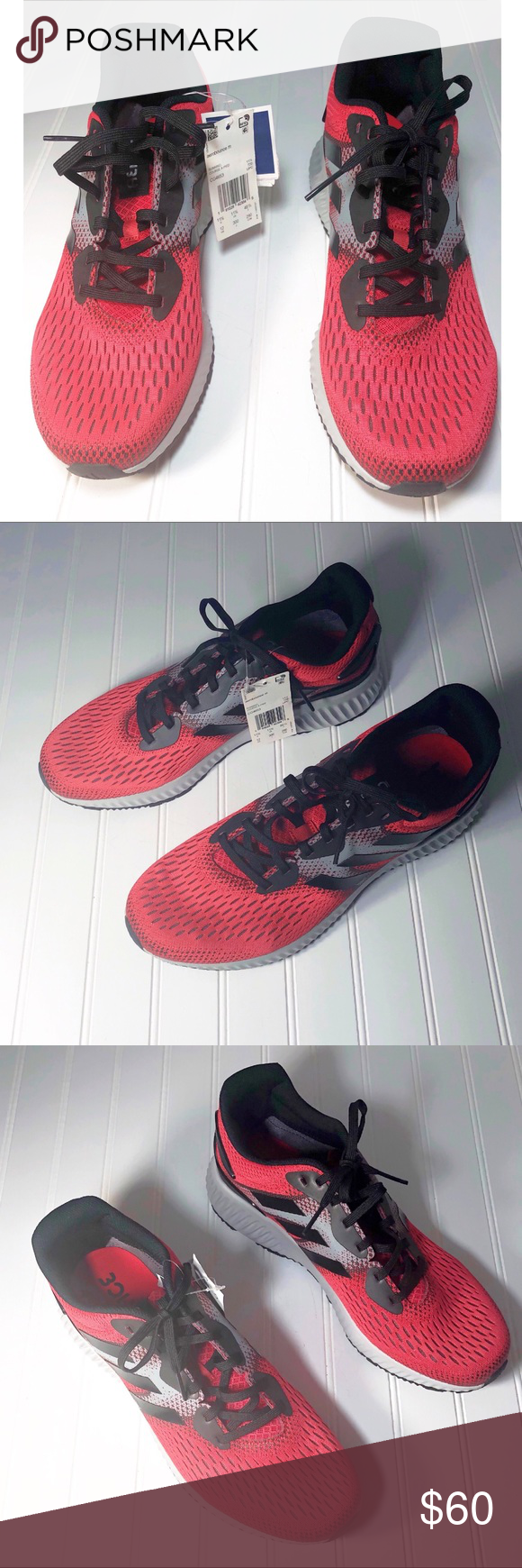 buy online 2838b 31c0f Adidas Aero bounce CG4653 Running Shoes Size 12 New without box Color   Red Black Gray Style ID  CG4653 Brand  Adidas Size  Men s US 12 Running  Shoes adidas ...