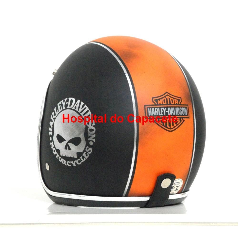 Capacete Custom Old School Skull Desgastado  38 - ( Sob encomenda ... 905a2e614b0