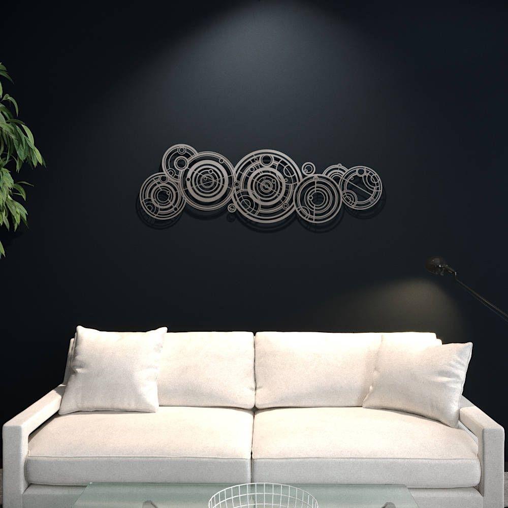 Xl doctor who gallifreyan large metal wall art science wall decor