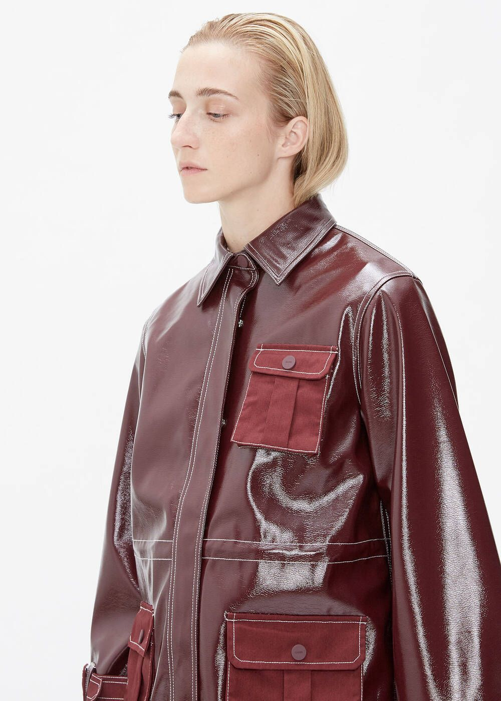 Ganni Patent Leather Jacket Leather Jacket Patent Leather Leather [ 1400 x 1000 Pixel ]