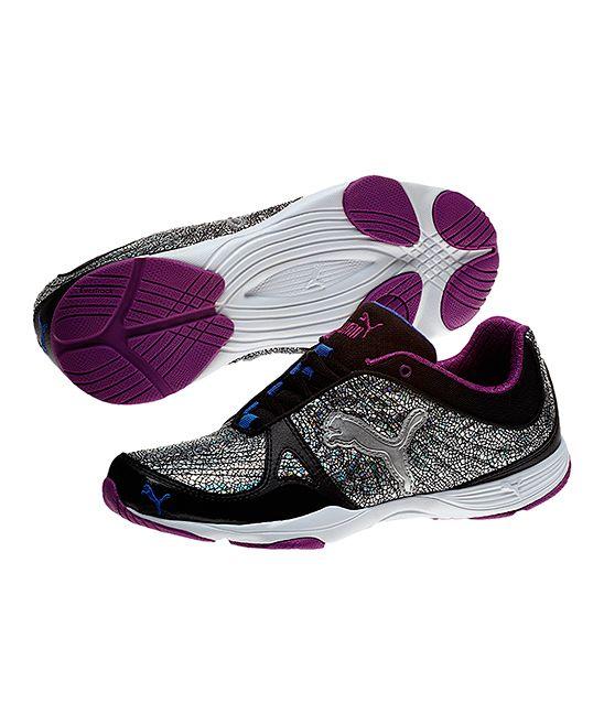 Black & Puma Silver Flextrainer Cross Training Shoe!