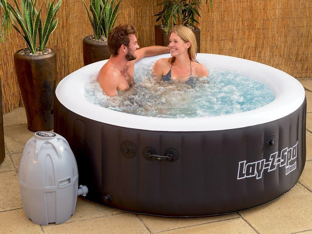 Whirlpool LAY Z SPA Mit 80 Sprudelbad Düsen + Heizung + Massage Outdoor Spa