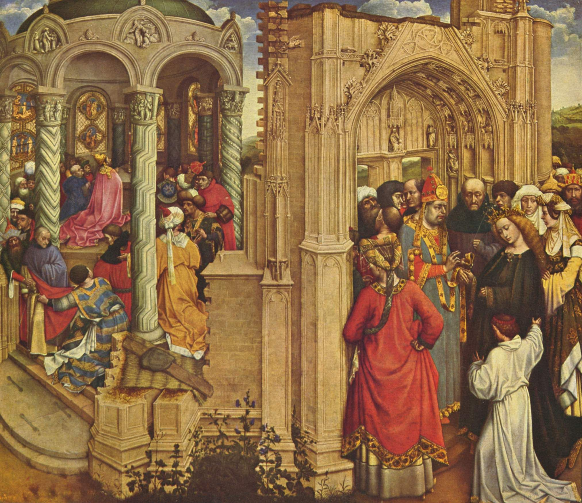 The Nuptials of the Virgin, 1420 - Robert Campin