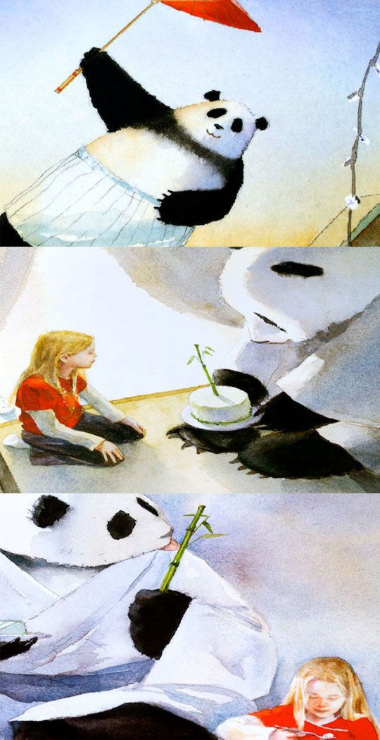 Jon J. Muth's illustrations from Zen Shorts. Beautiful water color ...