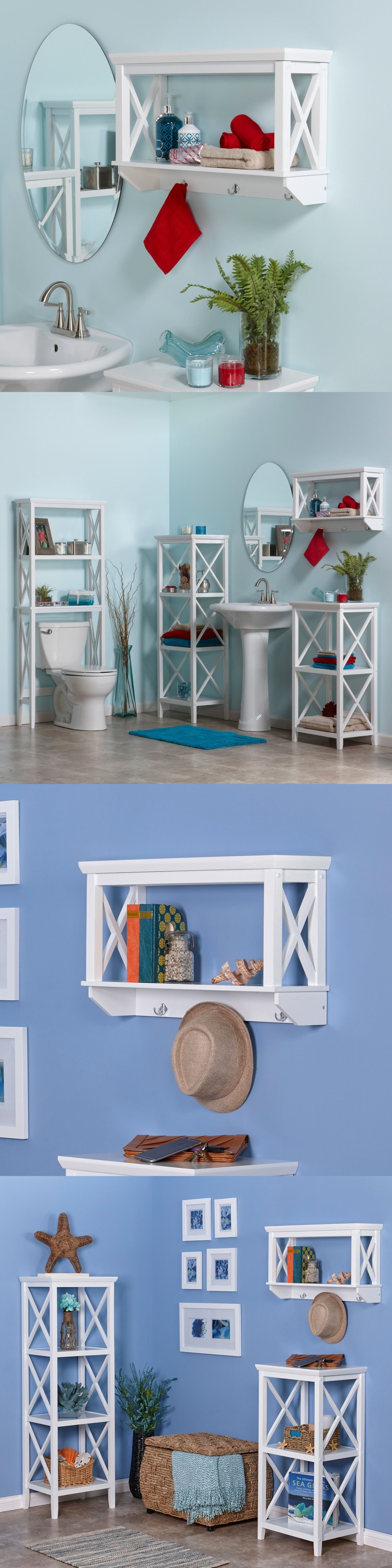 Shelves 31385: Bathroom Furniture Space Saver Over Toilet Wall ...