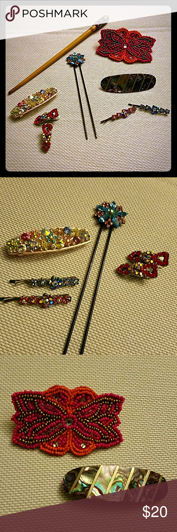 Bundle of hair accessories Bundle of pretty hair accessories! If you are interested in a certain piece, I can make a separate listing for you. Accessories Hair Accessories