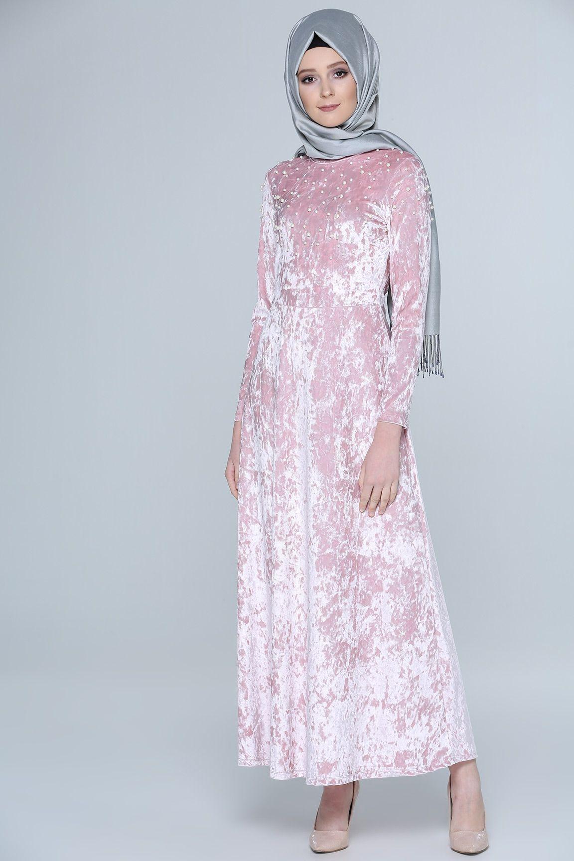 2018 Tozlu Tesettur Abiye Elbise Modelleri High Neck Dress Fashion Dresses