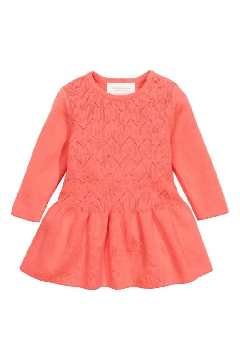 robe en maille fine | h&m | vêtements bébé fille | pinterest