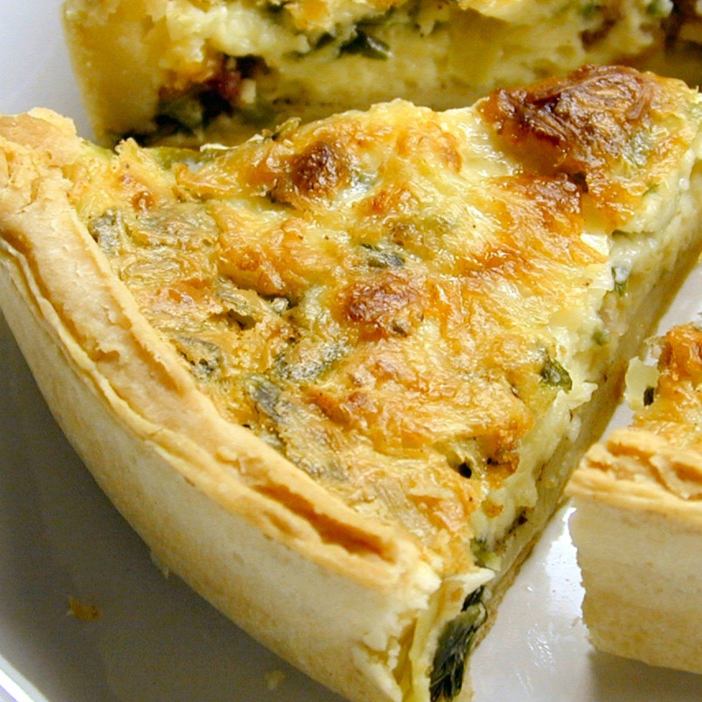 Cheesy Spinach And Bacon Quiche